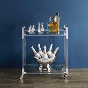 Glass Wood Dining Table, Claro Bar Cart With Images Bar Cart Decor Gold Bar Cart Bar Furniture