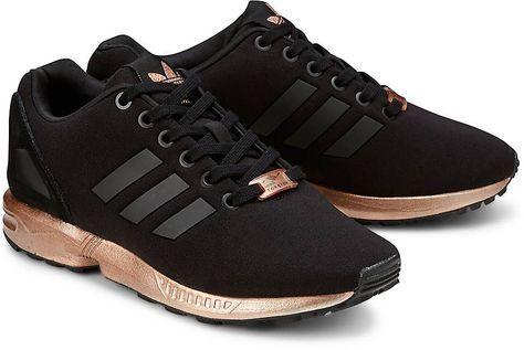 Adidas Zx Flux Schwarz Gold | Adidas zx flux black, Adidas
