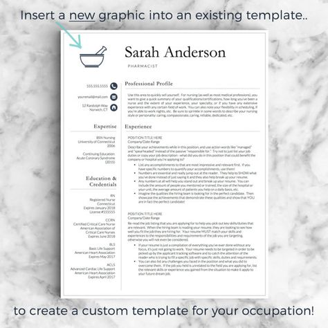 Doctor Resume Template for Word \ Pages Nurse Resume Template - operating room nurse resume sample