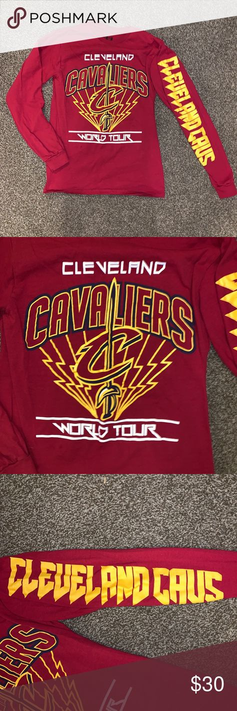 f494cca470a Cleveland cavaliers long sleeve basketball tee 🏀 Justin Bieber world tour  style. Unisex af.