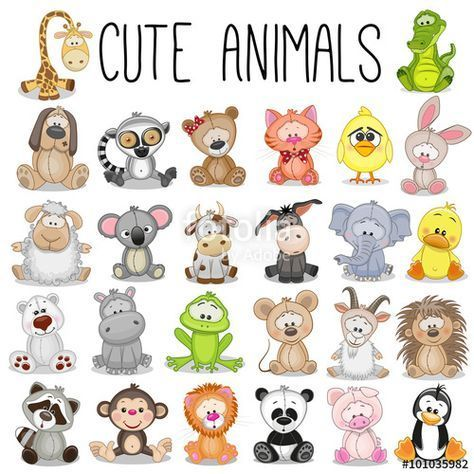 Pin By Pirvu Mihaela On Elainkuvat In 2020 Cute Animal Illustration Cute Animals Cute Animals Images