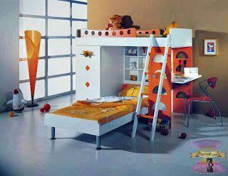 غرف نوم اطفال دورين مودرن Loft Bed Bed Home Decor