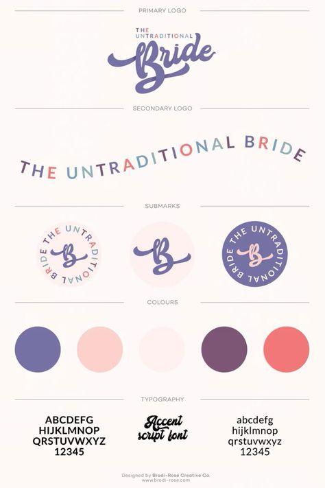 The Untraditional Bride Logo & Brand Design by Brand Designer