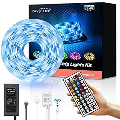 Amazon Com Led Strip Lights Waterproof 16 4ft 5m Flexible Color Changing Rgb Smd 5050 150leds Led Strip In 2020 Led Strip Lighting Strip Lighting Rgb Led Strip Lights