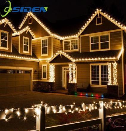 Best Farmhouse Christmas Outdoor Lights 32 Ideas Roof Christmas Lights Hanging Christmas Lights Decorating With Christmas Lights