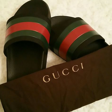5561bd9b8c24 Gucci Flip Flop (Mens) Used Authentic Gucci Sandals Sz 10 9 10 overall  Condition Some minor scuffing on sandal as pictured Gently Used Dust Bag  Incl. Too ...