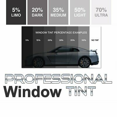 White Car 70 Window Tint