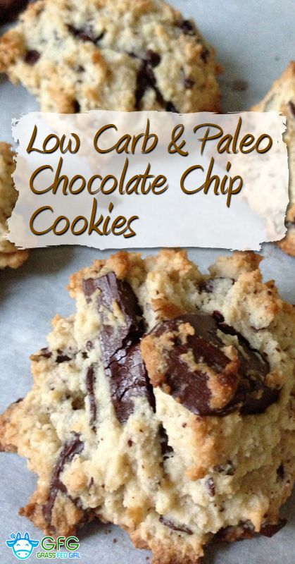 Low Carb and Paleo Chocolate Chip Cookie Recipe | http://www.grassfedgirl.com/low-carb-paleo-chocolate-chip-cookie-recipe/