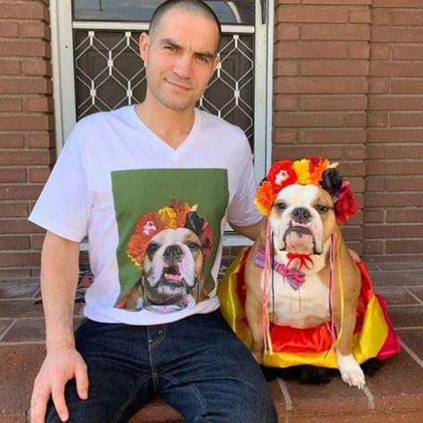 Custom Pet Art Mens V-neck