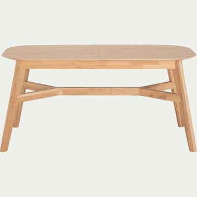 Table De Repas Extensible Plaquee Chene 8 A 10 Places Leonie Table Extensible Table Repas Table Extensible Table