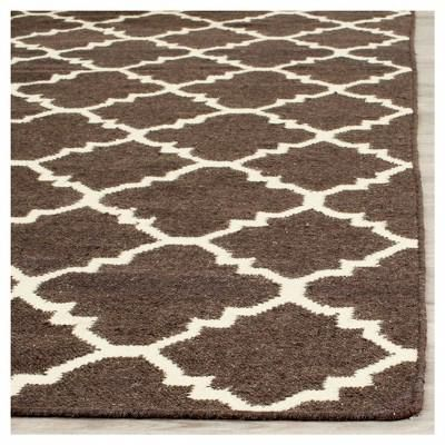 Robbie Area Rug Brown Ivory 9 X 12 Safavieh Area Rugs Rug Runner Flat Weave Rug