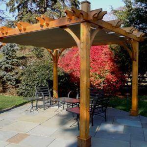 Pergola With Retractable Canopy 12x16 Pergola Backyard Pergola Covered Pergola