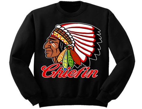 MAFIOSO CLOTHING ENEMY OF THE STATE BLACK CHIEFIN INDIAN CHIEF T SHIRT