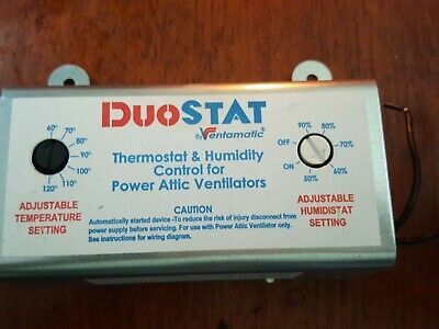 Ad Ebay Ventamatic Xxduostat Adjustable Dual Thermostat Humidistat Control For Power In 2020 Thermostat Power Hvac
