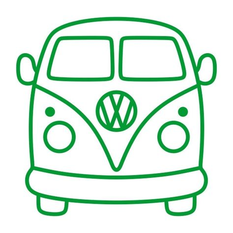 Volkswagen Bus Van Cuttable Design PNG DXF SVG & eps File for Silhouette Cameo and Cricut