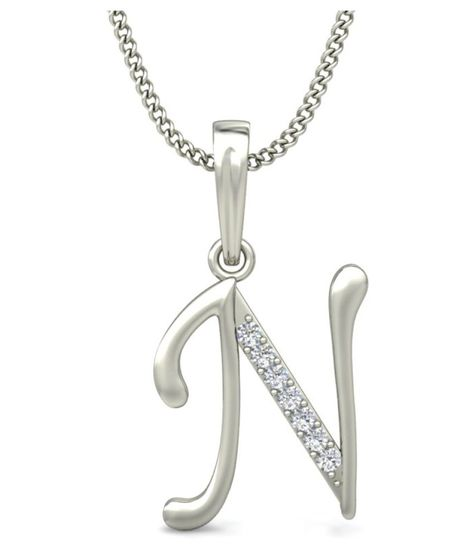 Carrydreams Silver Plated A-z Letters Initial Pendant With Chain ... 3795494dba1