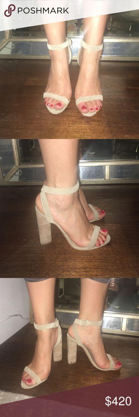 4e2702c13 Yeezy Season 2 suede nude strap heels size 37 1 2 Beautiful nude suede heels