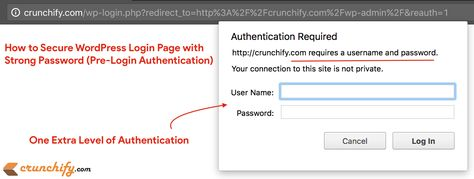 How to Secure WordPress Login Page (wp-admin) with additional Strong Password (Pre-Login Authentication) • Crunchify