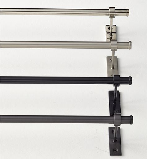 We Pin Adjustable Metal Rod Nickel With Images Towel Rack