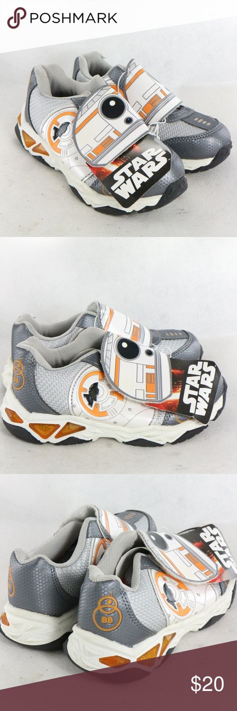STAR WARS BB-8 Bolter Velcro Strap Sneakers All new with tag Star Wars sneakers perfect for your kid who loves Star Wars. New, never worn, absolutely no issues. Size 13 Star Wars Shoes Sneakers