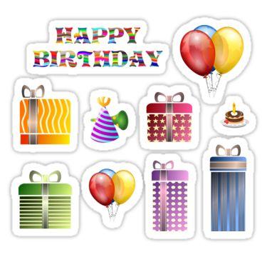 Happy Birthday Sticker Sheet Sticker
