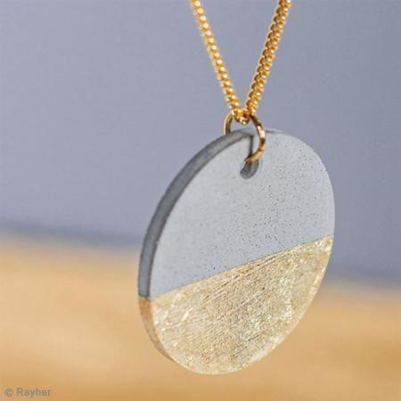 Rayher Concrete Mold - Round - cm - Creative Concrete Jewelry Mold - DIY & C.