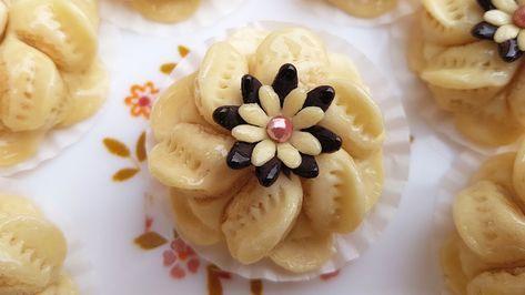 حلوة اللوز بريستيج الزهرة البرية راقية جدا بتقديم بسيط و طريقة سهلة و Arabic Sweets Recipes Bakery Desserts Biscuit Cookies