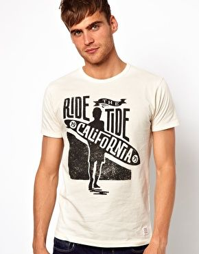 Jack & Jones T-Shirt With Surfer Print