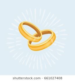 Vector Cartoon Illustration Of Two Gold Wedding Rings Isolated Object Wedding Ring Cartoon Wedding Ring Illustrations Gold Wedding