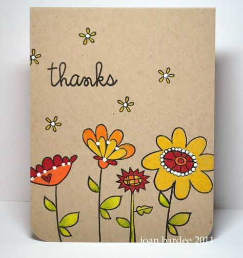 Paper Smooches: The PS Patrol - Kaarten Maken Cute Cards, Diy Cards, Your Cards, Handmade Thank You Cards, Greeting Cards Handmade, Card Drawing, Envelope Art, Paper Smooches, Watercolor Cards