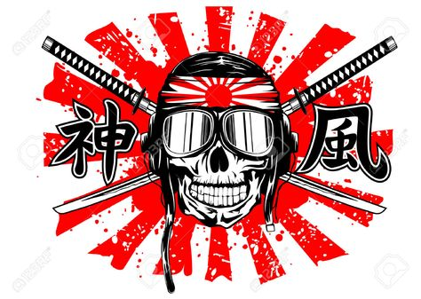 Http Previews 123rf Com Images Ss1001 Ss10011311 Ss1001131100039 24191038 Illustrazione Vettoriale Del Cranio Di Kamikaze Kamikaze Japan Flag Helmet Drawing