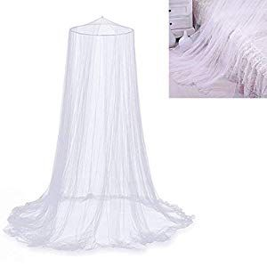 Happyyous Luxury Mosquito Net Dome Lace Curtains Net,White Round for Girls Bed Netting Canopy for Single to King Size Beds Toddlers /& Adults Or Over Baby Crib