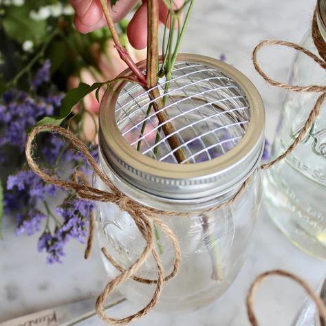 DIY: Mason Jar Flower Arrangement