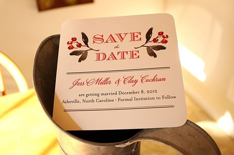 Christmas Wedding Save The Date - Unique Wedding Ideas