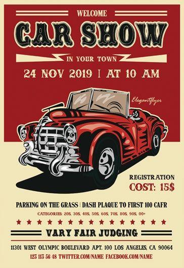 Car Show Flyer Templates Classic Car Show Flyer Template Flyer