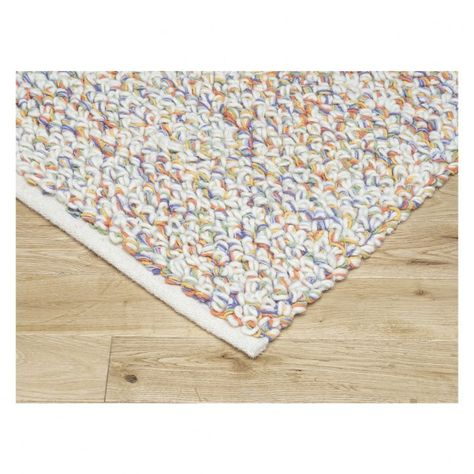 The Kirstin Large Multi Coloured Flat Weave Rug Is An Intriguing Looped Design Made From Cream Wool Pile Interwoven With Yarn D Woven Rug Flat Weave Rug Rugs