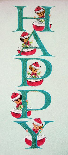 Early 1960s Vintage Christmas Card http://www.pinterest.com/bookbabe68/vintage-holidays/