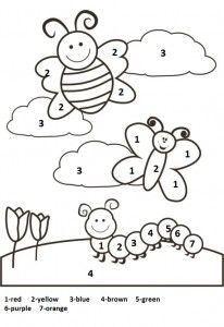 1 Den 5 E Kadar Rakamlar Calisma Sayfalari Okuloncesi Sanat Ve Fen Etkinl Preschool Coloring Pages Coloring Worksheets For Kindergarten Spring Coloring Pages