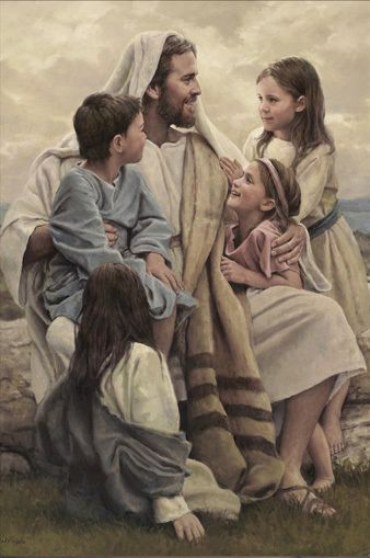 This is a depiction of Christ teaching the children. | Jesus ...