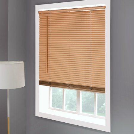 Mainstays Cordless Room Darkening 1 Vinyl Mini Blind Khaki Image 5 Of 5 Mini Blinds Vinyl Mini Blinds Blinds