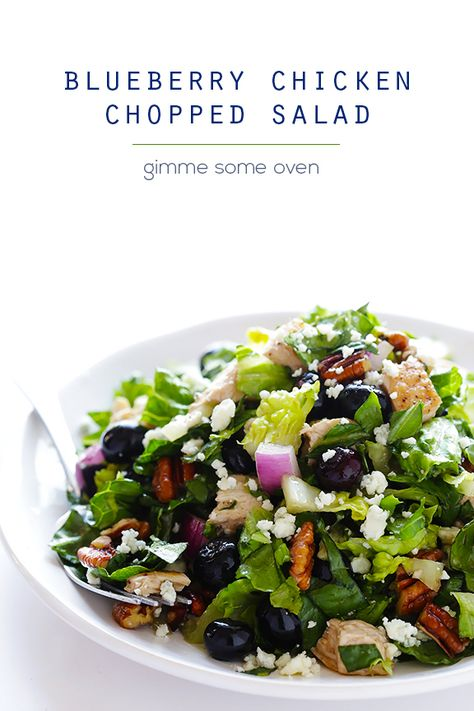 Blueberry Chicken Chopped Salad - Gimme Some Oven
