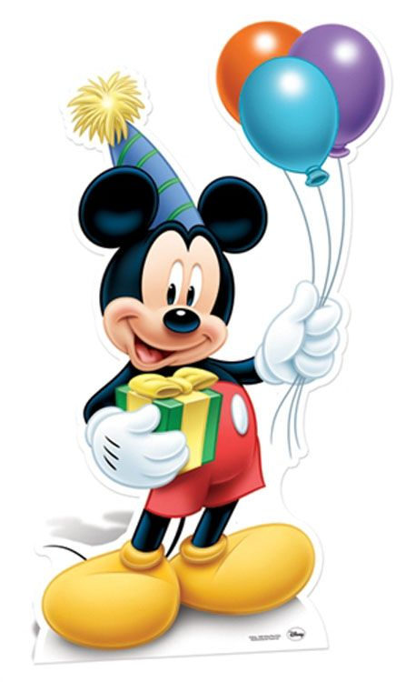 Mickey Mouse Holding Balloons