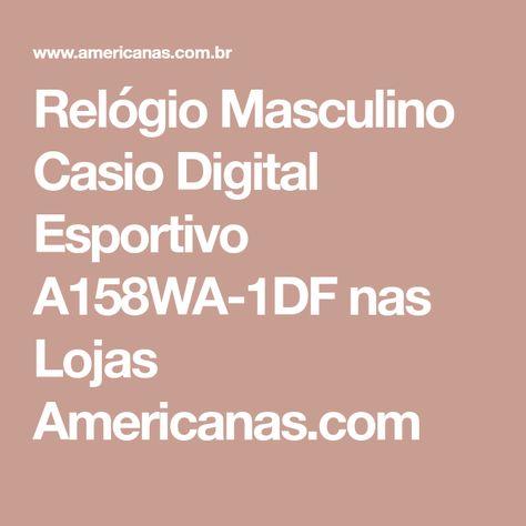 bcb36eeda748c Relógio Masculino Casio Digital Esportivo A158WA-1DF nas Lojas  Americanas.com