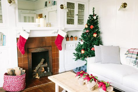 Minimal Yet Traditional - How Lonny Editors Decorate Their Homes For The Holidays - Photos