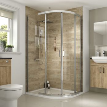 Wickes Florence 1200 X 900mm Off Set Quadrant Shower Enclosure Chrome Quadrant Shower Enclosures Quadrant Shower Shower Enclosure