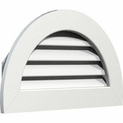 Ekena Millwork Pvc Half Round Gable Vent With Flat Trim Frame In White Size 23 H X 41 W X 3 D Gable Vents Ekena Millwork Millwork