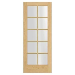 Jeld Wen Woodgrain 10 Lite Unfinished Pine Interior Door Slab Discontinued Thdjw103800099 The Home Depot In 2020 Slab Door Prehung Interior Doors Pine Interior Doors