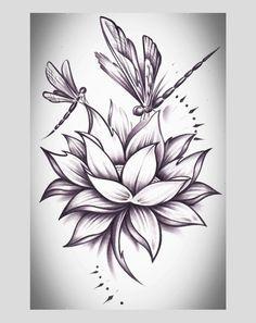 Realistic Lotus Drawing : realistic, lotus, drawing, Flowers, Drawing, Realistic, Lotus, Ideas