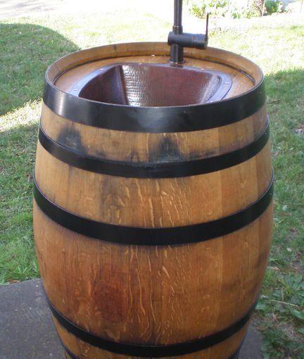 Outdoor Waschbecken.Diy Outdoor Waschbecken Eines Alten Weinfass Diy