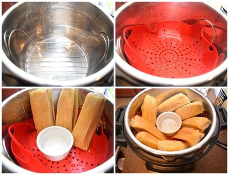 You Bought Some Tamales Or Made Tamales And Precooked Them But Now They Re Frozen Now It S Dinner Time And You Don T Tamales Instant Pot Instant Pot Recipes